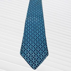 Brooks Brothers Makers Blue & Turquoise Silk Tie